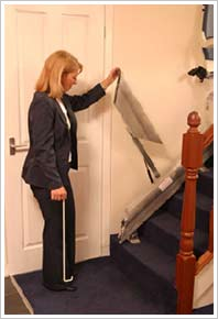 Sabre Stairlifts stairlift hinge track system